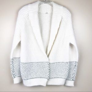 anthropologie angora snap front cardigan sweater